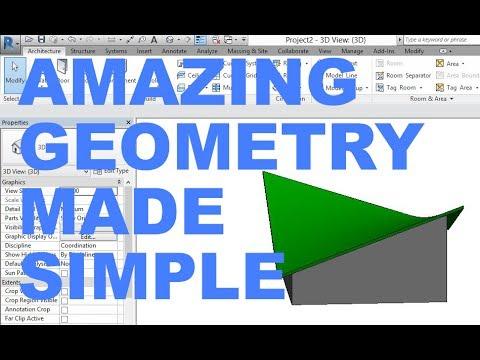 Hyperbolic Paraboloid Roof In Revit Youtube