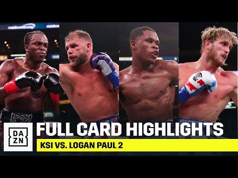 LOOKING BACK   Full Card Highlights: KSI vs. Logan Paul 2