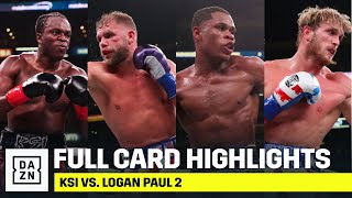 LOOKING BACK | Full Card Highlights: KSI vs. Logan Paul 2