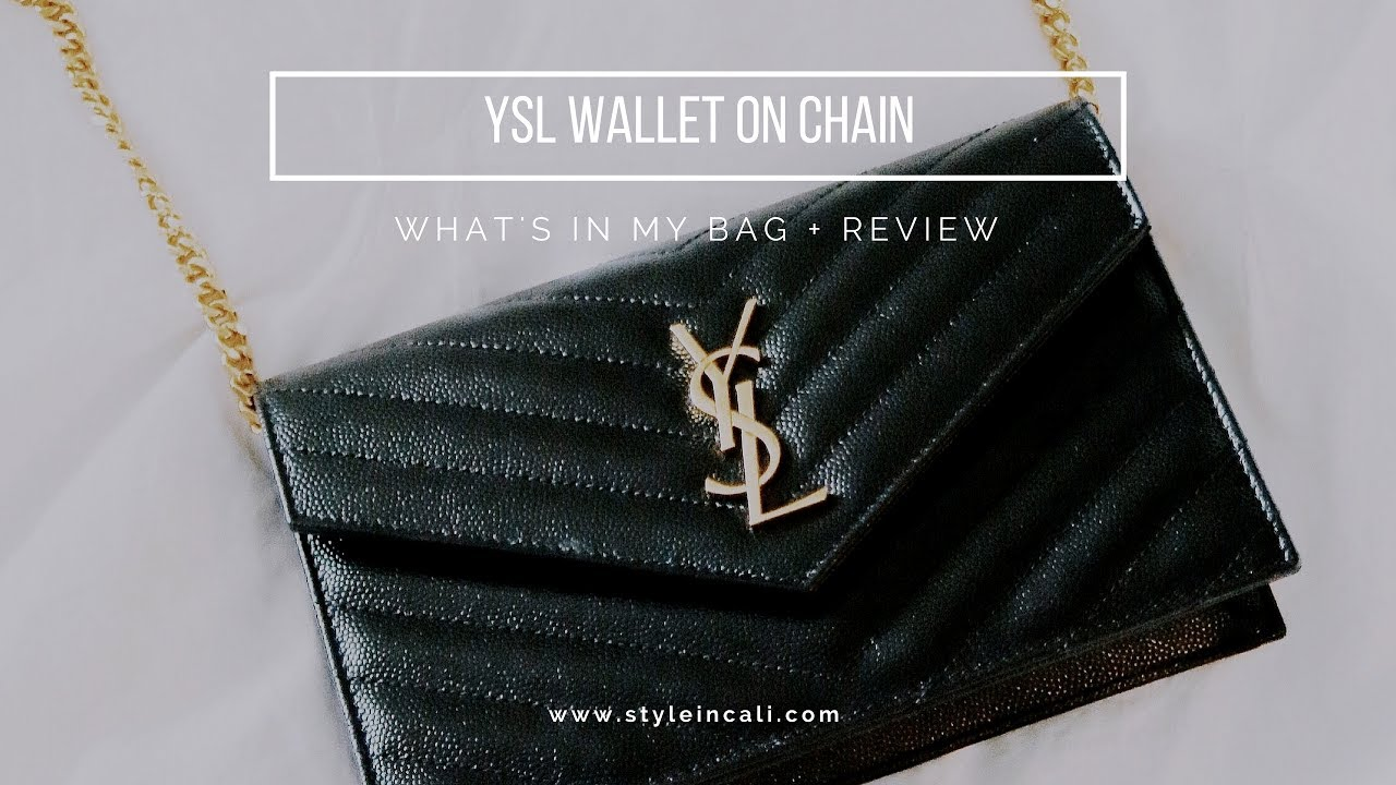 0b3d24b193e41b YSL Wallet on Chain | What's in My Bag + Review - YouTube