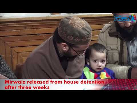 Mirwaiz released from detention, visits families of militants, civilian slain in Srinagar gunfight