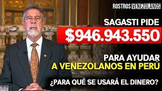 Sagasti pide financiamiento para ayudar a venezolanos en Perú