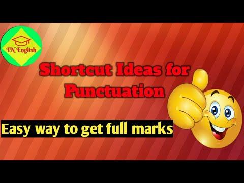 SHORTCUT IDEAS FOR PUNCTUATION