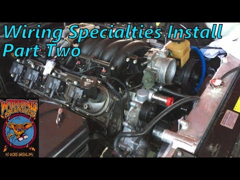 wiring specialties harness install part 2 ls1 240sx s14 drift rh youtube com 240SX Wiring Harness 240SX Wiring Harness