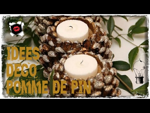 D corations en pommes de pin diy youtube - Deco de noel pomme de pin ...