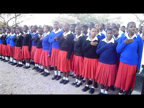 Assembly at Issenye High School, Tanzania, 2010