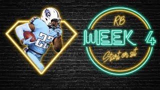 2019 Fantasy Football - Week 4 Running Back Start or Sit
