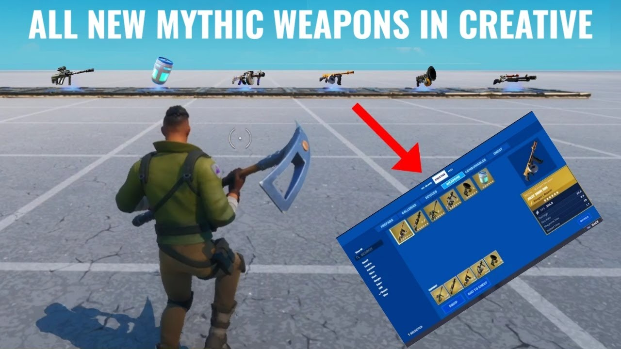 How to Get Mythic Weapons in Creative Chapter 2 Season 3
