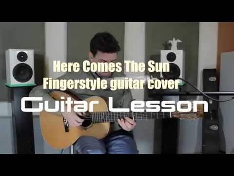 Fingerstyle Guitar lesson - Here Comes The Sun