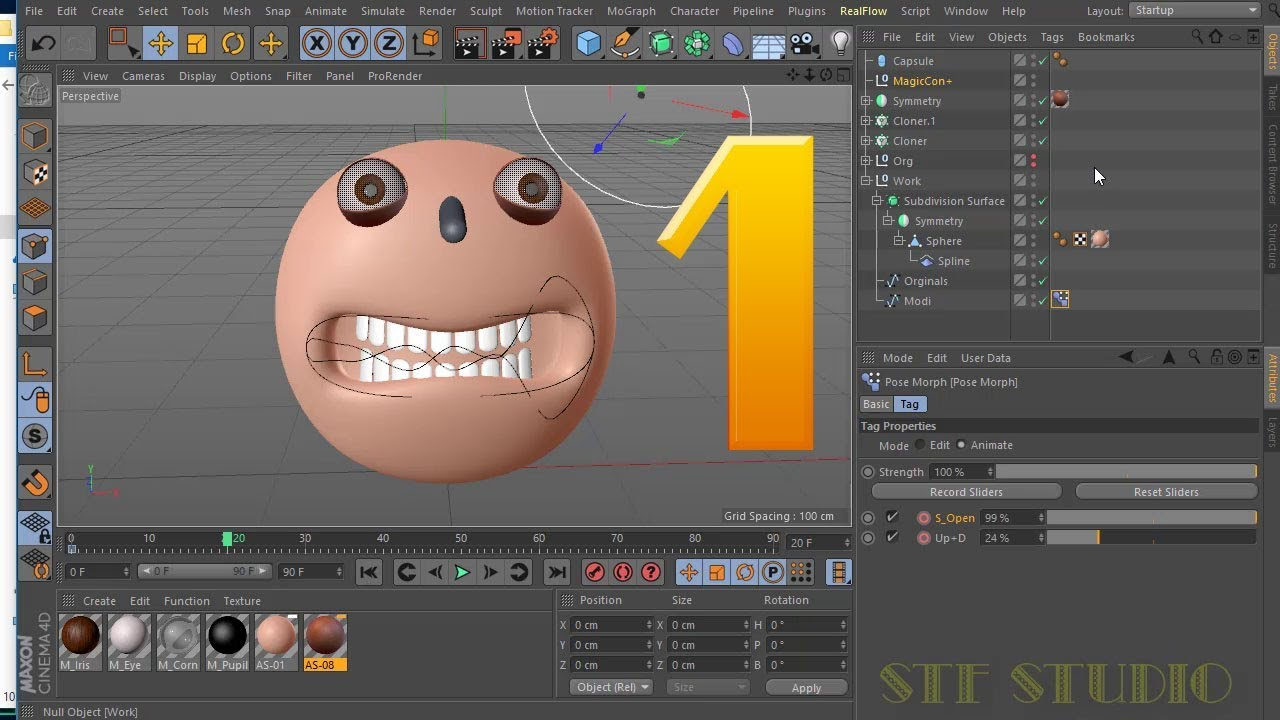 Face Animation in Rigging a Mouth and Using Pose Morph Tag Cinema 4d Bangla  Tutorial Part 1