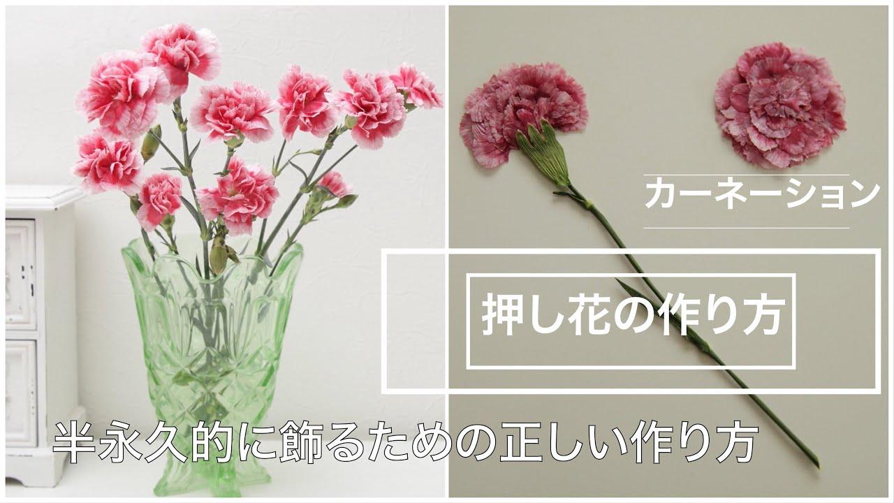 押し花 作り方