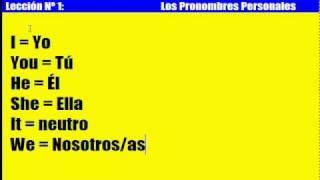 Curso de Inglés: 1. Los Pronombres Personales thumbnail