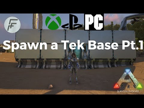 ARK: Survival Evolved How to spawn a Tek base (part 1) - YouTube on