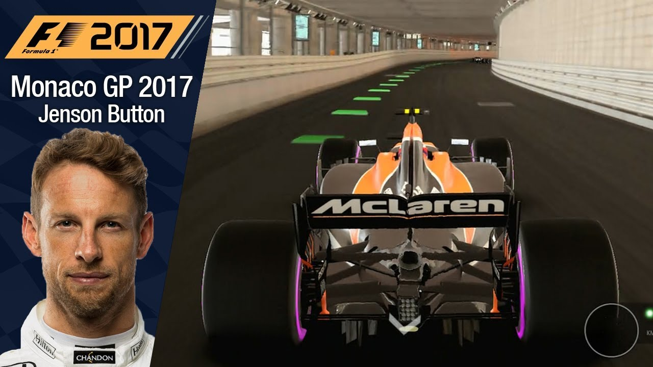 f1 2017 - jenson button (mclaren) monaco gp - crash and disaster