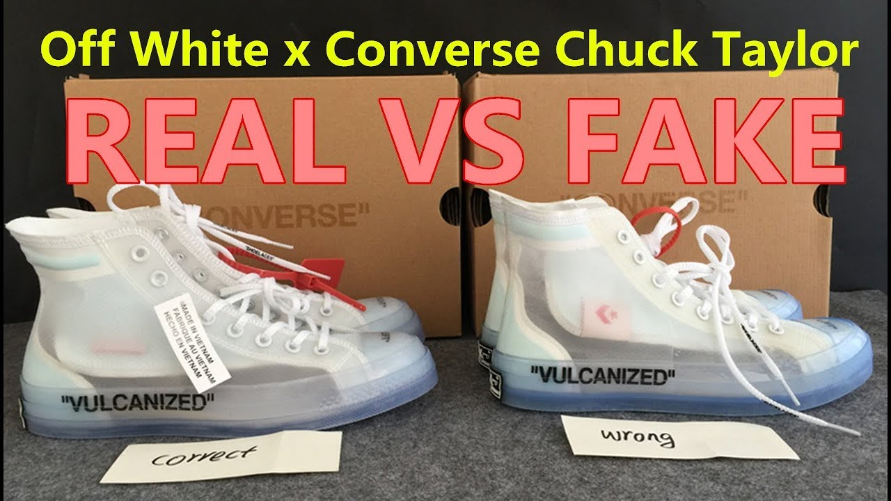 7629c78c0b6e7 REAL VS FAKE Off White x Converse Chuck Taylor Fake Education - YouTube