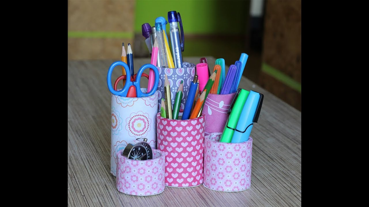 Стаканчики под карандаши своими руками