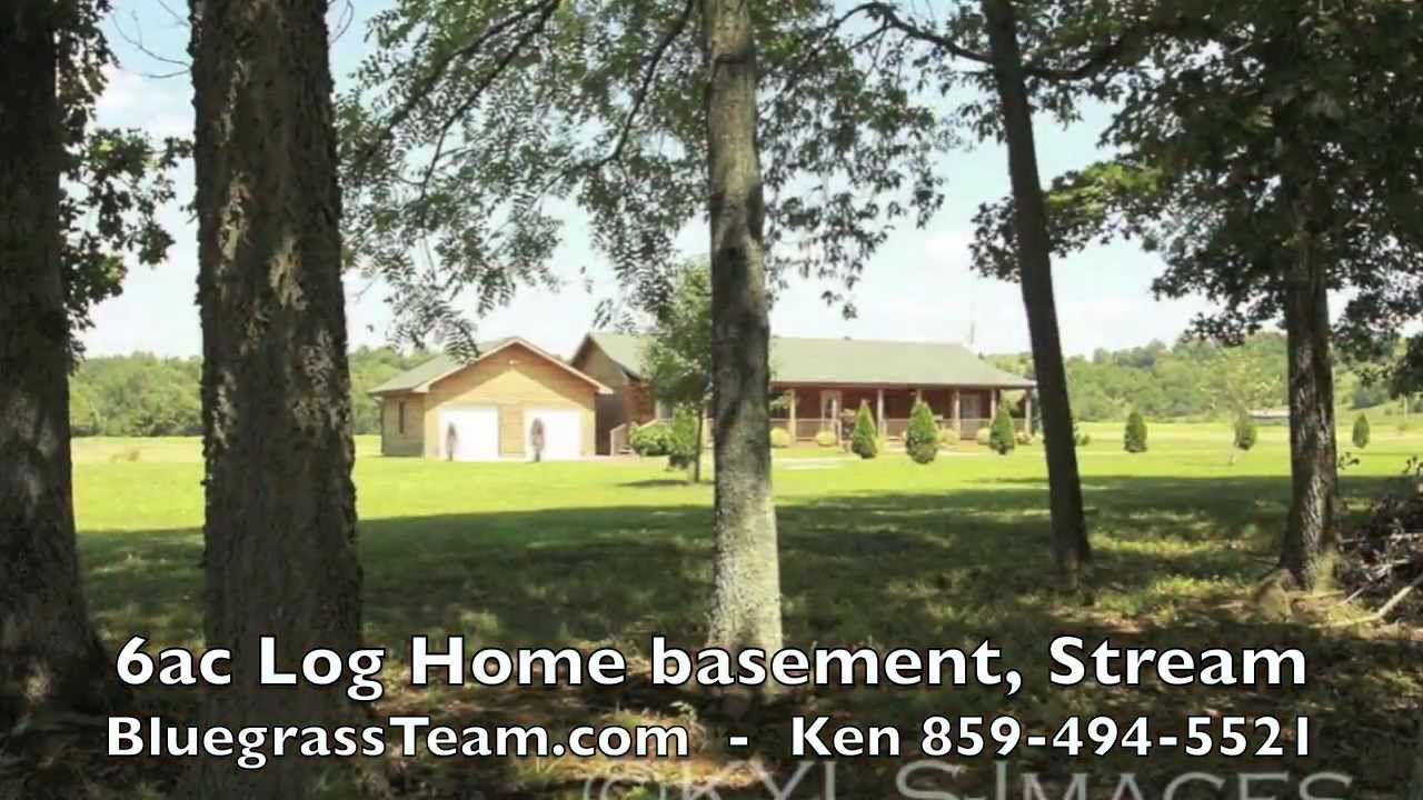 Acreage For Sale By Owner >> 6ac Log Home Basement Stream Harrodsburg Ky Farm For Sale Kentucky