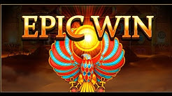 Online slots - Legacy of Ra, EPIC WIN from free spins bonus!
