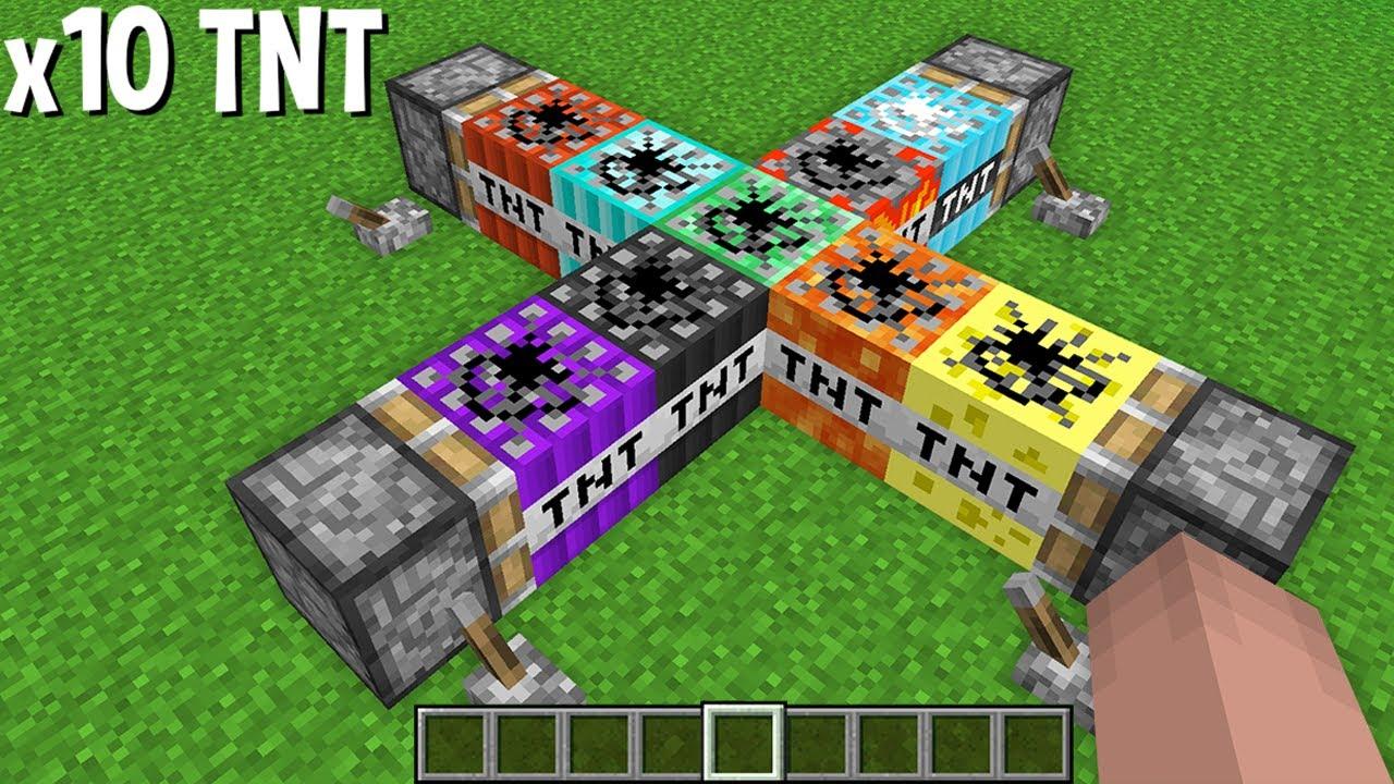 TNT x10 = COMBINE many TNT in ore SUPER TNT in Minecraft !!!