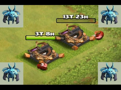 Clash Of Clans : Upgrade Minion To Lvl 6 And  X-Bow  To Lvl 3