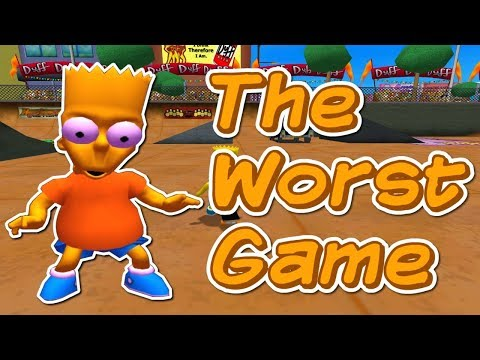 The Simpsons Skateboarding  - The WORST  Game Ever Made
