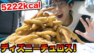 【大食い】話題のディズニーチュロスをおうちで大量に作って食べたら夢の国気分になった!www