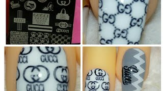 GUCCI STAMPING PLATE GUCCI NAILS