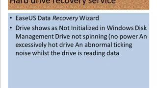 Hard drive recovery software