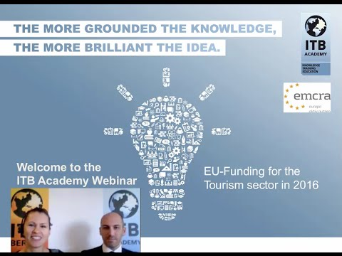 ITB Academy Webinar: EU-Funding for the Tourism sector in 2016