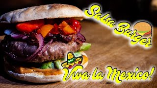 😎 Viva la Mexico! EXTREM leckerer SALSA BURGER 🍔 von der FEUERPLATTE 🔥