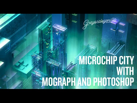 Cinema 4D - ASKGSG - Creating a Microchip City with Mograph and Photoshop