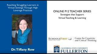 K12 Online Teaching Webinars: High Leverage Practices