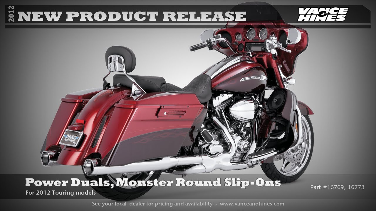 Power Duals, Monster Round Slip-Ons for 2012 Touring CVO Street Glide FLHXSE