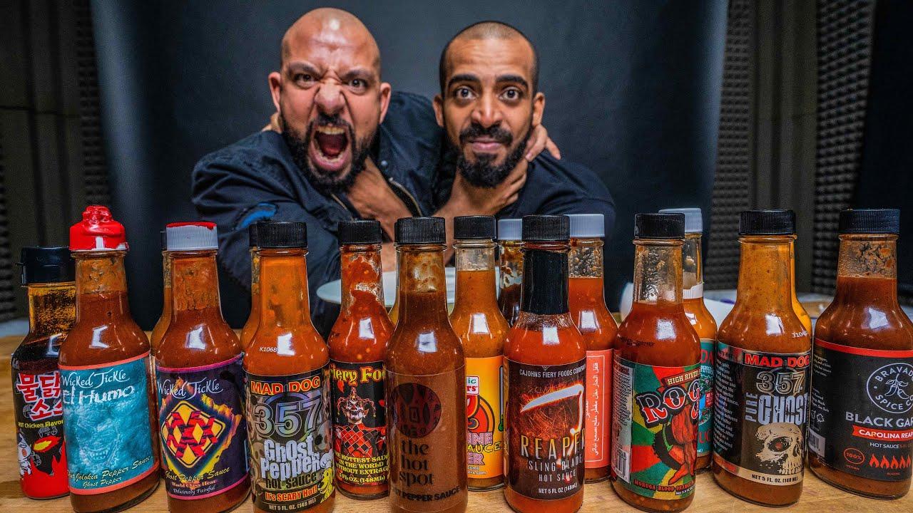 تحدي احررر شطات العالم - والعقاب؟؟؟ ? The Hottest Hot Sauces In The World