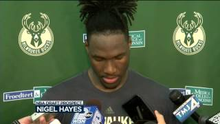 Nigel Hayes works out for Bucks