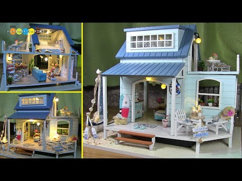 DIY Miniature Dollhouse kit - Caribbean ミニチュアドールハウスキット カリブ海作り
