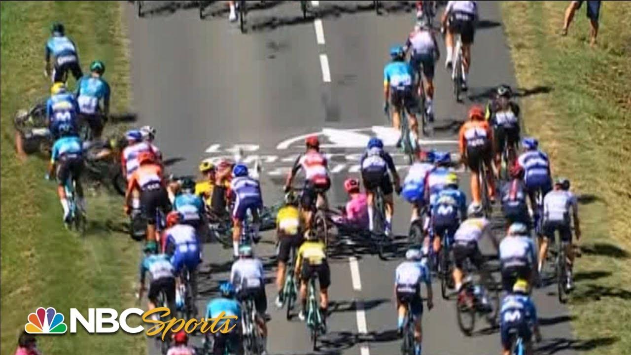 Tour de France 2020: Massive crash separates riders in Stage 10 | NBC Sports