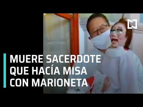 Alerta por la muerte de sacerdote por coronavirus | Sacerdote hace misa con marioneta - En Punto