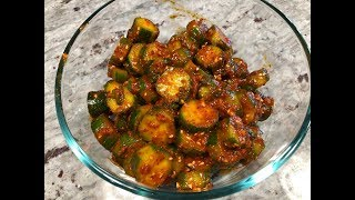 How to Make Korean Spicy Cucumbers