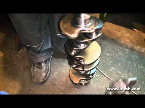 Проверка блока цилиндров и коленвала стуканутого мотора Mercedes Sprinter 2.2 CDi