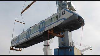 Comienza a llegar nuevos trenes para el Metro de Valparaíso