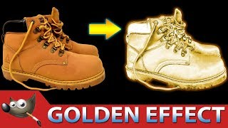 GOLDEN EFFECT : Turn Objects Into Gold with GIMP