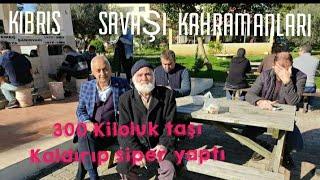 #Birzamanlar KIBRIS Savaşı Anıları 300 kiloluk taşı Allahın yardımıyla kaldırdı Mehmet Bangray Zorba