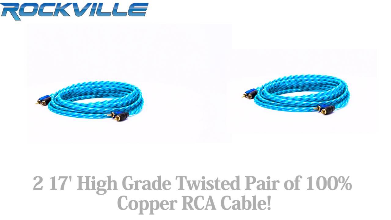 Rockville Rwk42 4 Gauge Car Amp Wiring Installation Kit 2 Rcas 2channel Complete Amplifier Vehicle Wire