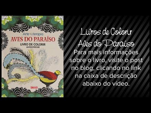 livros-de-colorir:-aves-do-paraíso