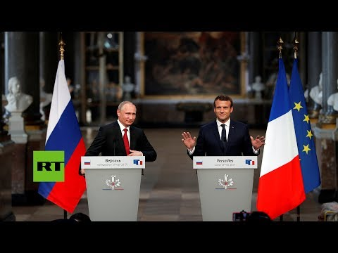 RT en Español: Primer cara a cara entre Putin y Macron