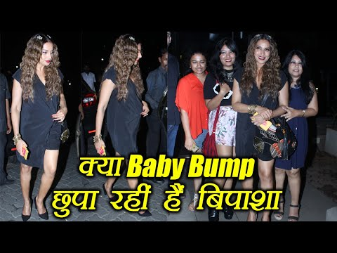 Bipasha Basu HIDING Baby Bump ? Watch video | FilmiBeat