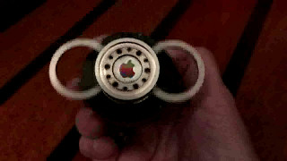 Spinners from hard drive parts