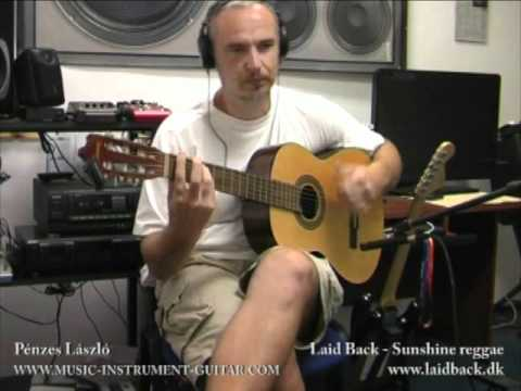 Laid back - Sunshine reggae (cover) - educating video for acoustic guitar