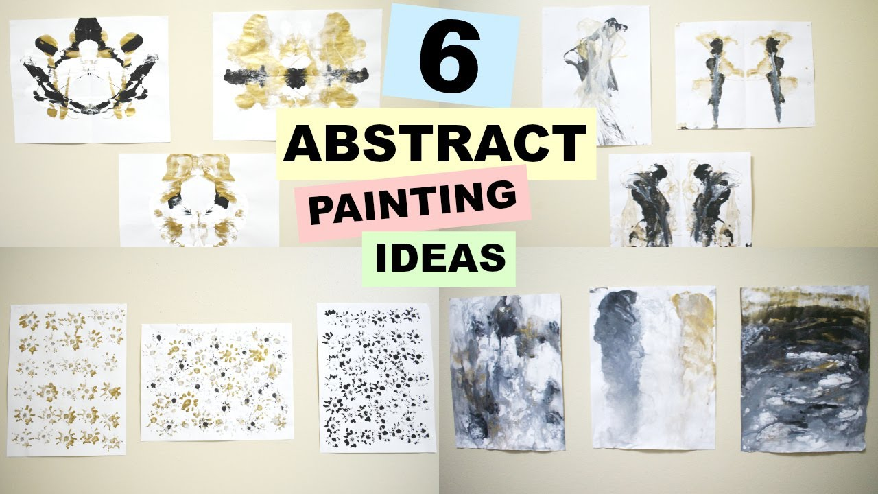 6 Abstract Painting Ideas Quick And Easy With Unique Effect Youtube